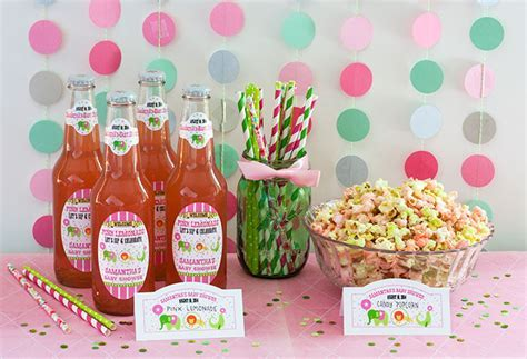 Circus Baby Shower   Candy Popcorn Favors   Party Inspiration