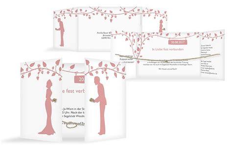 Hochzeitseinladung Romantisch by Hochzeitseinladung Quot Romantisch Mit Kordel Quot