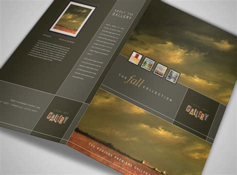 fine art gallery artist brochure template