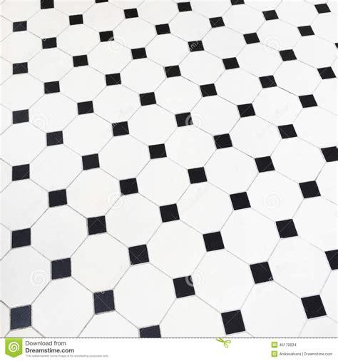 Black And White Ceramic Floor Tile Black And White Ceramic Tiles Floor Stock Photo Image 45170834