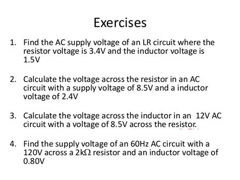 calculating inductor voltage calculate voltage across inductor 28 images lr series circuit series inductor resistor