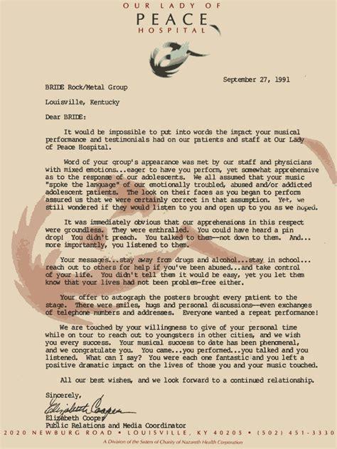 Invitation Letter For Gospel Meeting Sle Invitation Letter For Church To A Gospel Concert