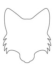 fox template printable fox pattern use the printable outline for crafts