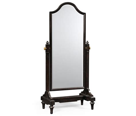 full length mirror ebonised cheval mirror full length