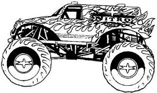 pics photos monster trucks coloring pages 4