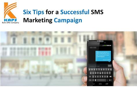 6 Tips For A Successful Hiatus by Ppt Six Tips For A Successful Sms Marketing Caign