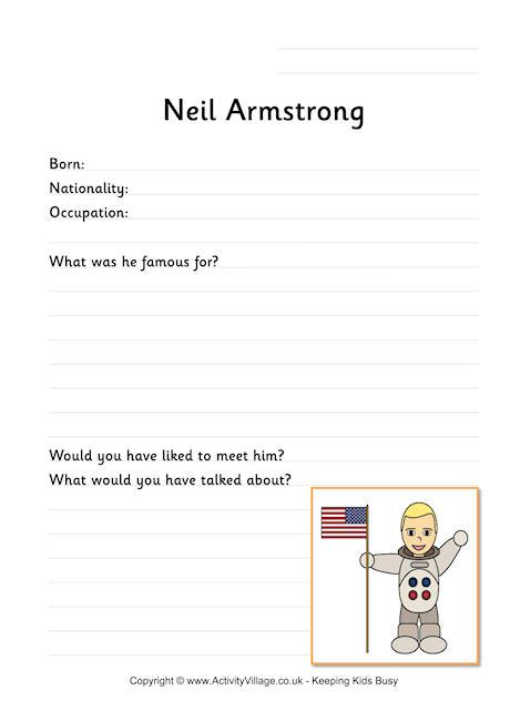 neil armstrong biography worksheet neil armstrong worksheet