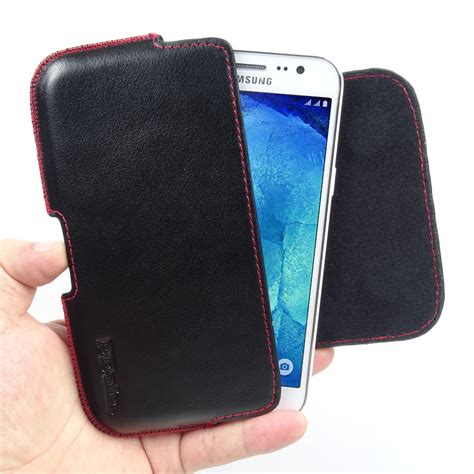 Softcase Cby Samsung J5 Stitch samsung galaxy j5 leather holster pouch stitch pdair