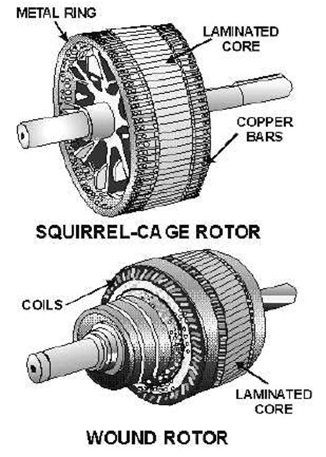 induction motor rotor fed figure 4 9 types of ac induction motor rotors