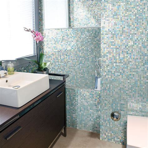 how to use wall tile to transform your bathroom tish - Bathroom With Mosaic Tiles