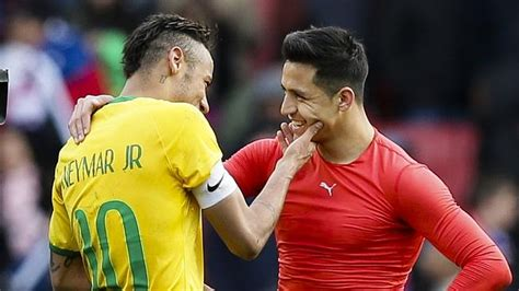 alexis sanchez vs neymar brazil v chile neymar s selecao defeat chile 1 0 in fiery