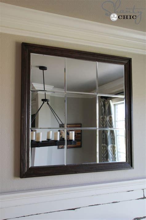 diy large wall diy large paneled wall mirror shanty 2 chic