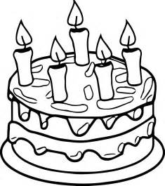coloring pages cake birthday cake colouring pages clipart best