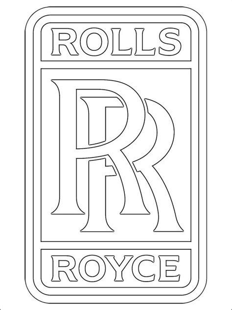 rolls royce logo drawing coloring pages rolls royce logo printable for
