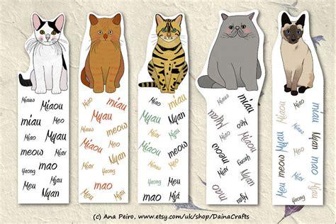 printable animal bookmarks cute printable bookmarks cat bookmarks printable cats
