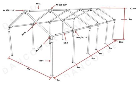 tende magazzino tenda magazzino basic 2 in 1 4x10m pe bianco