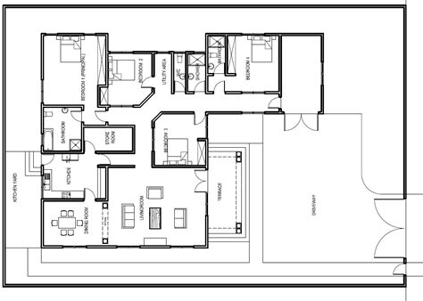 plan floor house ghana house plans abeeku house plan