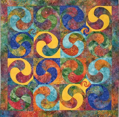 Curls and Swirls Quilt Pattern JT 104 (advanced beginner