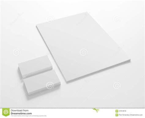 Stationery Stock Card Template by Blank Stationery Template With Business Cards Stock Photo