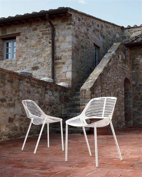 sedie in alluminio per esterni sedia in alluminio con motivo orrizzontale per esterni