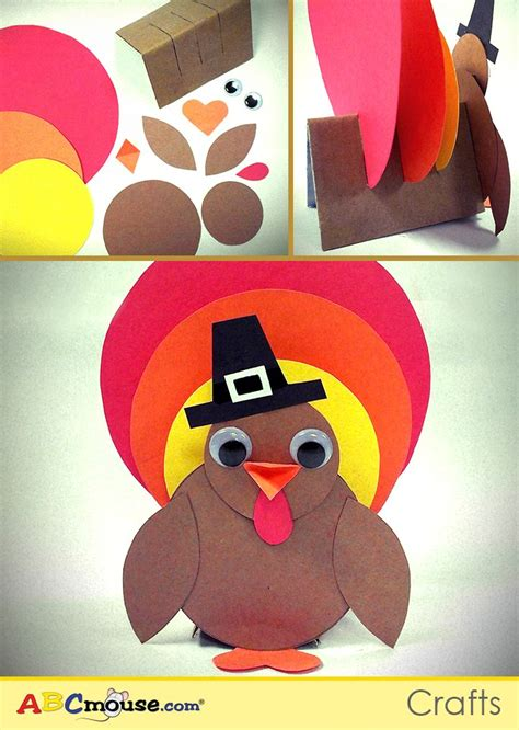 How To Make A Turkey With Construction Paper - here s a thanksgiving turkey craft you can make with your