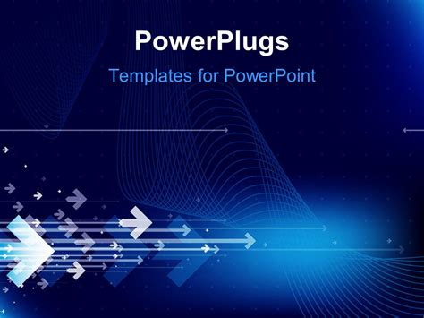 powerpoint template abstract hi tech blue background with