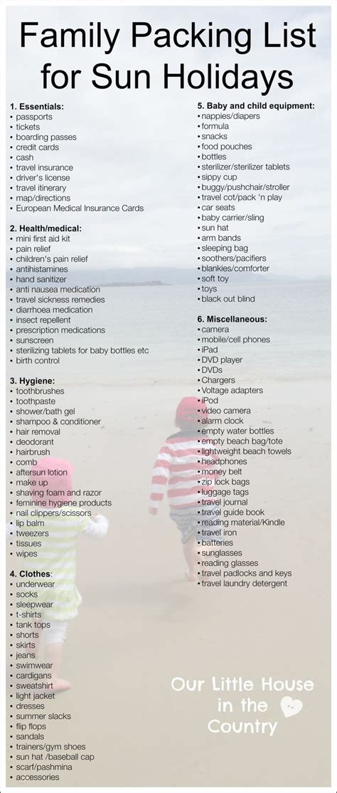 family vacation packing list packing list beach vacation png pay