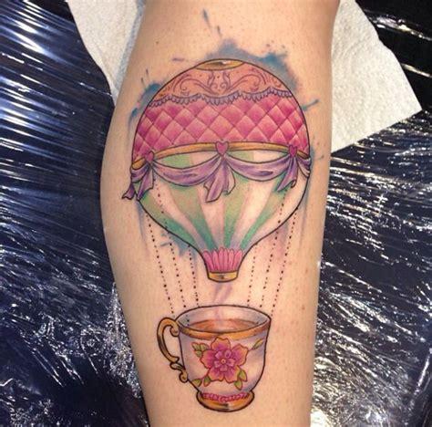 small hot air balloon tattoo air ballon tattoos small air balloon air