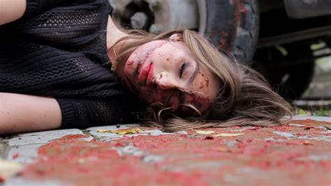 killed girl dead woman game stock footage video