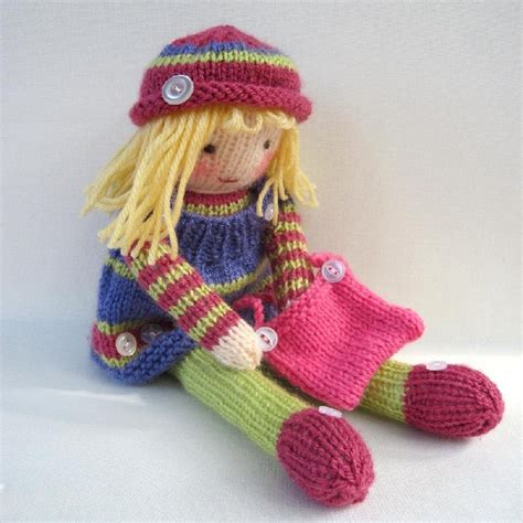pattern for yarn doll betsy button knitted doll knitting pattern by toyshelf