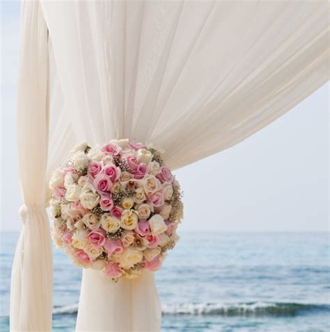 Bohemian Home Decor 2015 Blush Pink Destination Beach Wedding Ceremony Arch