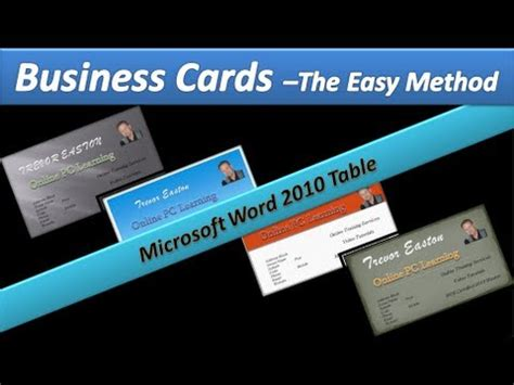 how to make business cards in word 2010 business card make business cards microsoft word 2010