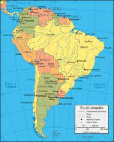 labeled map of and south america south america political map am 233 rica do sul south
