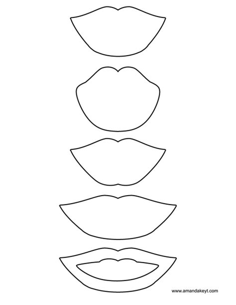 printable photo booth props to color lips template coloring pages
