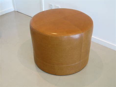 recover leather ottoman small leather ottomans recovering a round leather ottoman