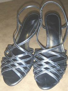 Sandals Without Toe by Ralph Tinah Strappy Leather Sandals Silver Open Toe New Without Box Ebay