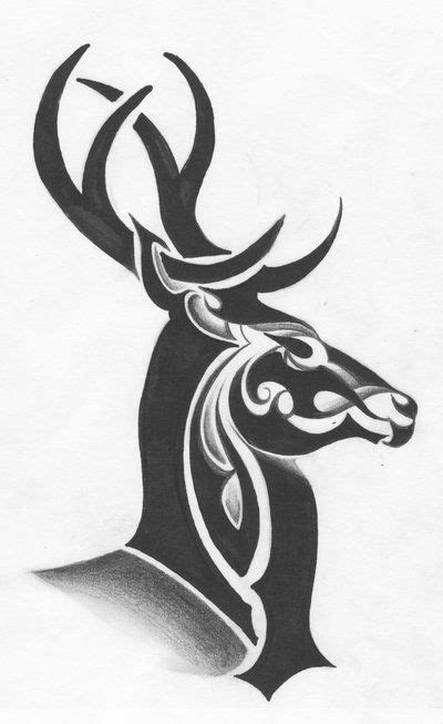 tribal elk tattoos tribal deer by ltatt2 deviantart on deviantart
