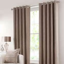 Dunelm Mill Ready Made Curtains Chenille Taupe Lined Eyelet Curtains Dunelm