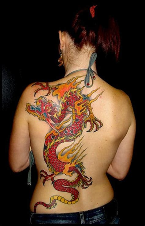tattoo back side woman 45 dragon tattoo designs for men and women tattoos era