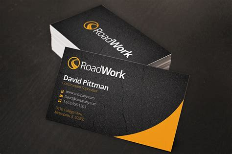 construction business card templates construction company business card templates free