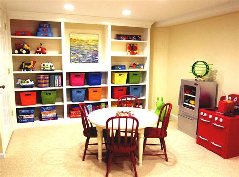 Basement Playroom Ideas Colorful Playroom Finishing A Basement Playroom Ideas