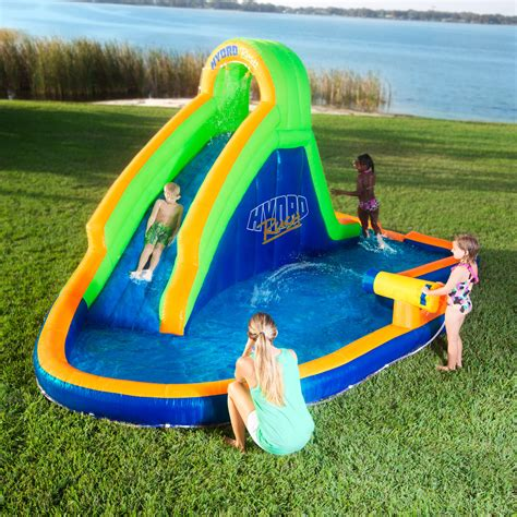 inflatable backyard water park blast zone hydro rush inflatable water park oh my that s awesome