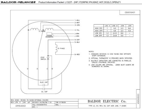 baldor motor wiring diagrams single phase wiring diagram