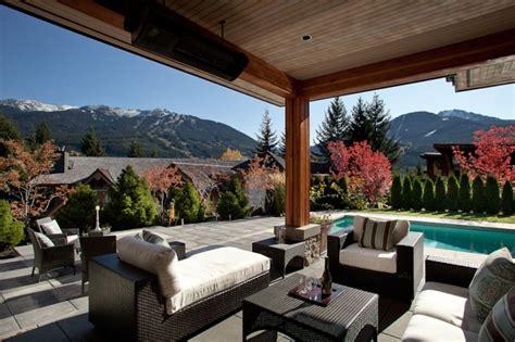 outdoor living room designs modern chalet in whistler idesignarch interior design