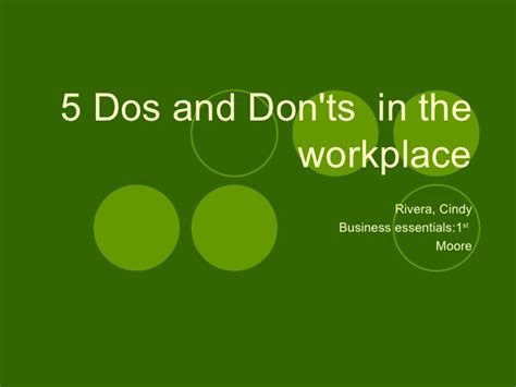 5 Dos And Donts Of Working From Home by 5 Dos And Donts