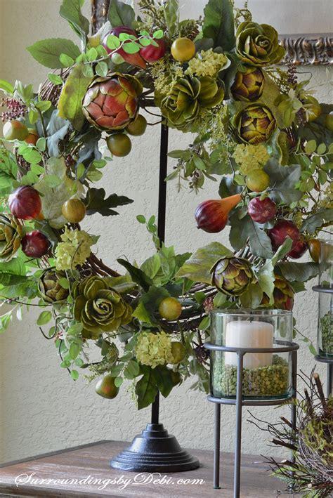 diy artichoke garland wreath