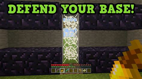 how to protect your house in minecraft minecraft 5 easy ways to protect your base build youtube