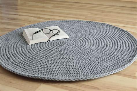 crochet floor mat handmade grey crochet rug cotton rope floor mat 100cm