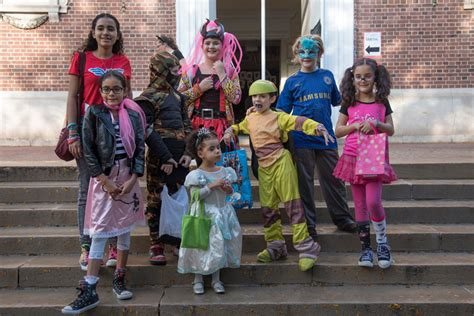Kid New Tinabaru Dmc college welcomes heroes frozen princesses and their parents for teachable trick or