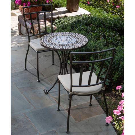 Tremiti Mosaic Patio Bistro Set Patio Dining Sets At Patio Bistro Table Set